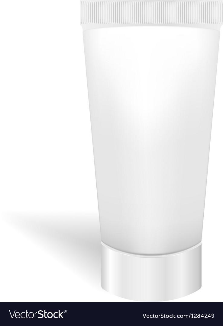 Blank white tube for cream or gel Packaging for vector image