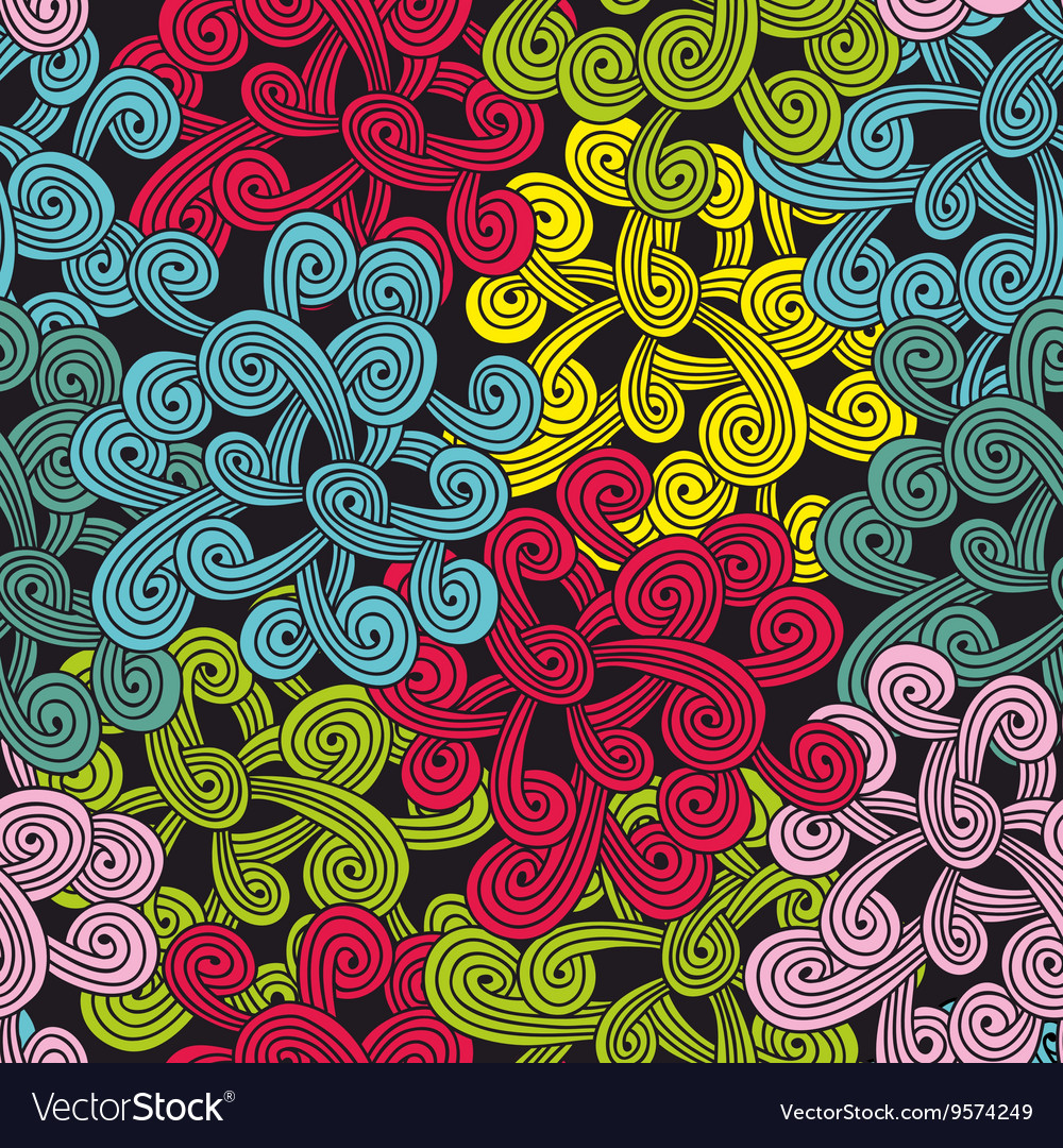 Colorful seamless pattern with abstract design vector image