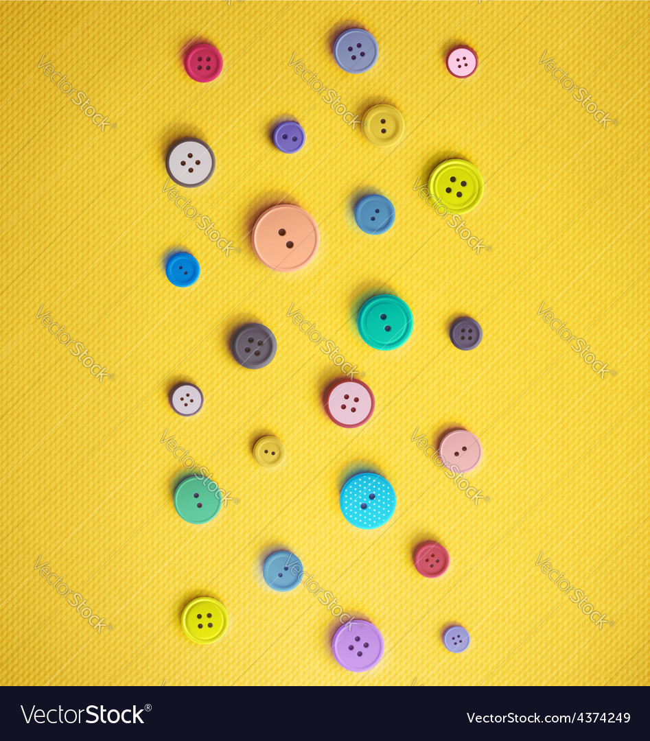 Colorful Sewing Buttons vector image