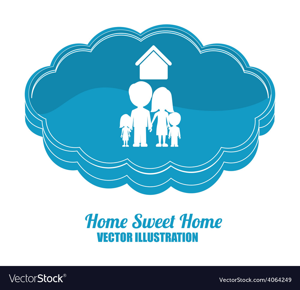 Sweet home design royalty free vector image vectorstock Home decoration vector free