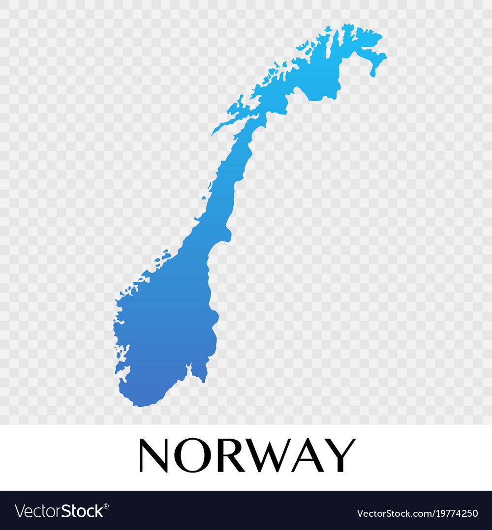 Norway map in europe continent design Royalty Free Vector