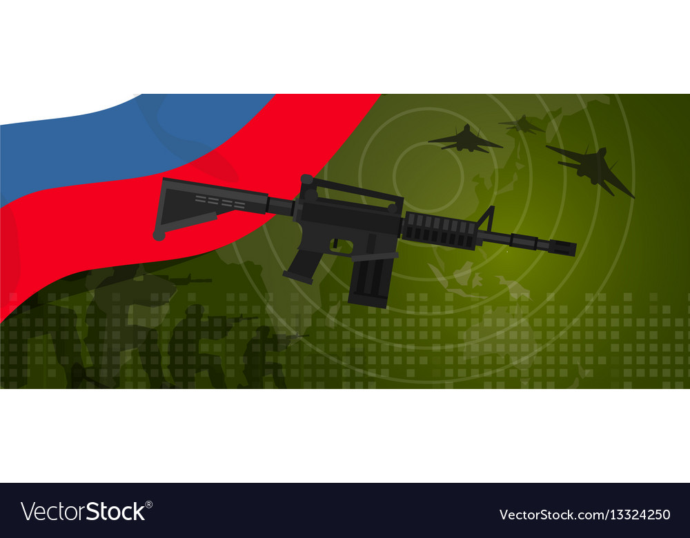 Russia military power army defense industry war vector image