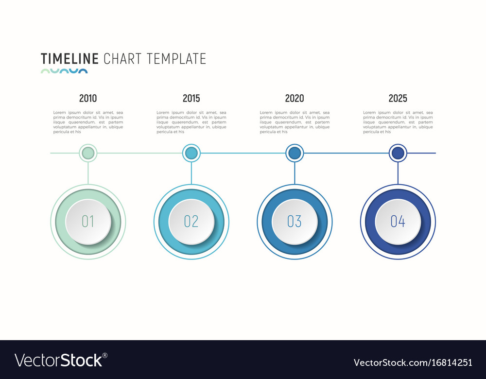 Timeline Chart Infographic Template For Data Vector Image - Timeline chart template