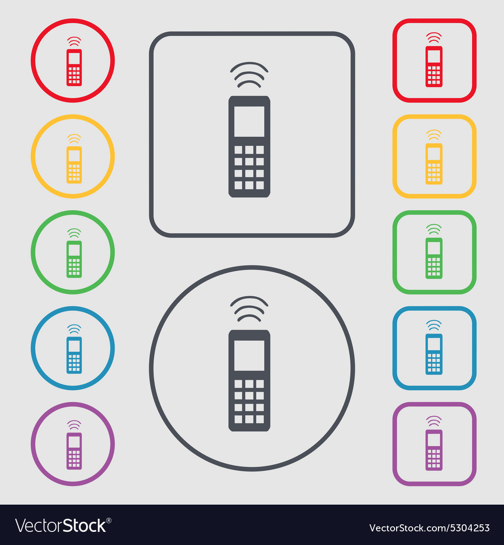 Remote control icon sign symbol on the Round and vector image