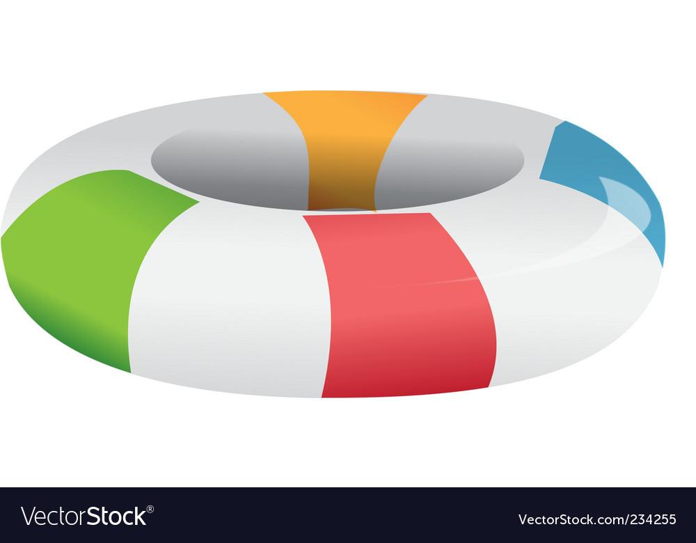 Inner tube vector image
