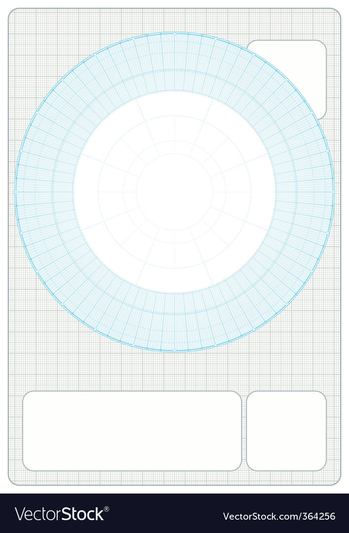 Millimeter Grid with drafting vector image