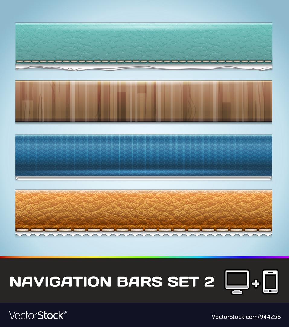 Navigation Bars For Web And Mobile Set2 vector image