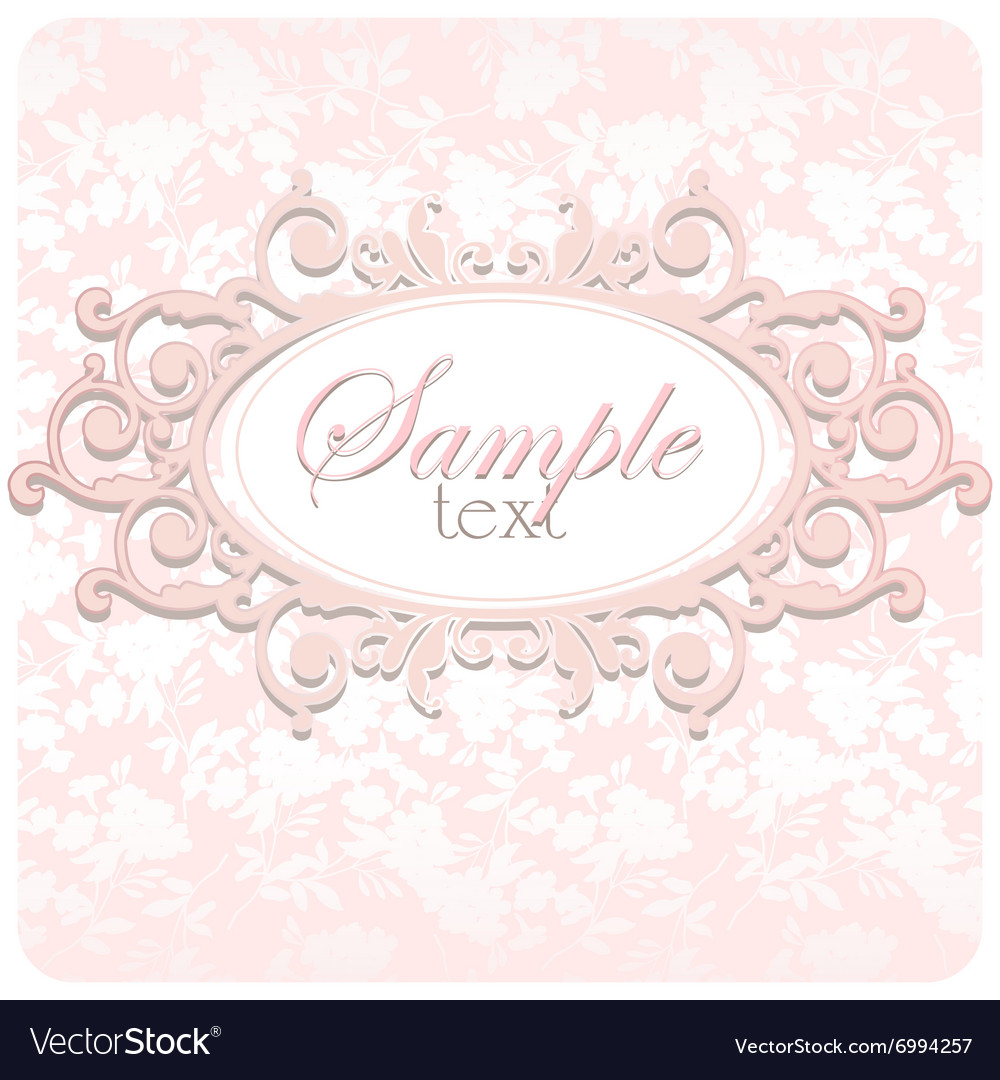 beautiful wedding card with frame royalty free vector image Wedding Card Frame Vector beautiful wedding card with frame vector image wedding card frame vector