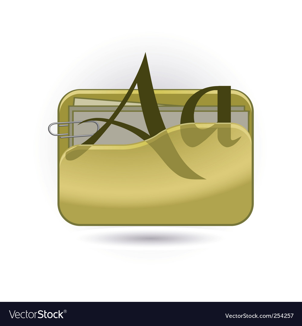 Font document icon vector image
