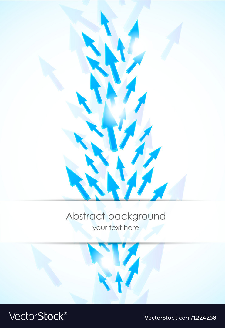 Abstract background with blue arrows vector image