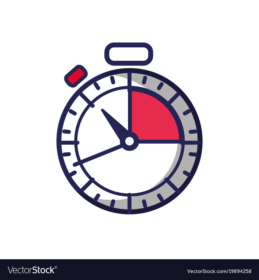 Chronometer timer object to measure clock vector image