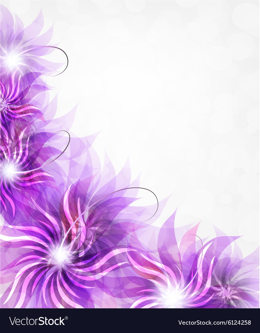 blooming background with purple flowers
