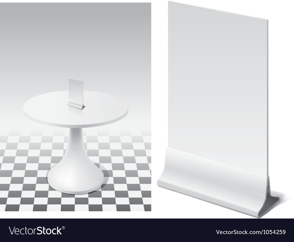 Table vector image