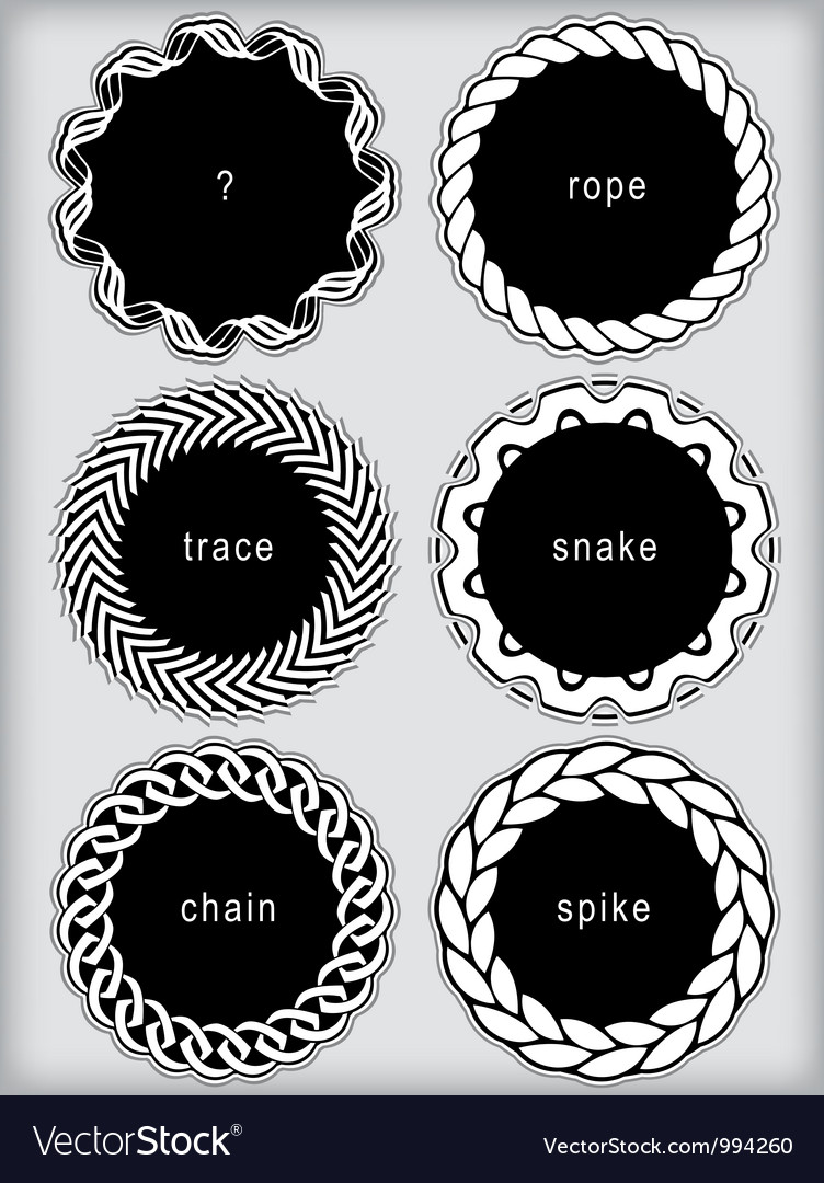 Set of simplistic framed labels vector image