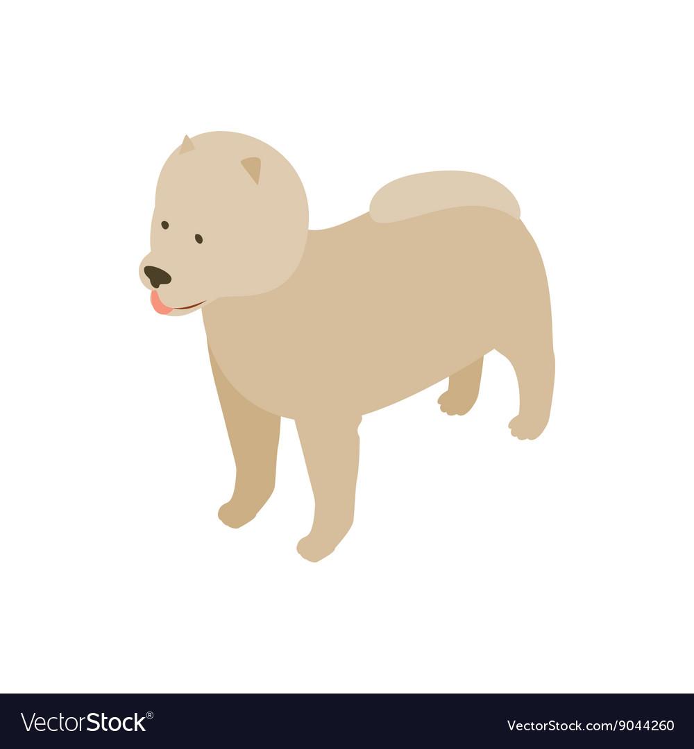 Pomeranian dog icon isometric 3d style vector image