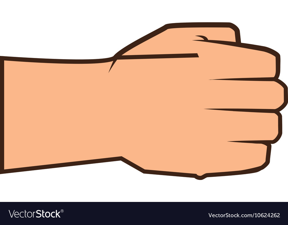 Closed hand clipart