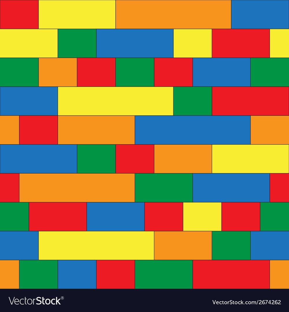 Plastic construction blocks seamless background vector image