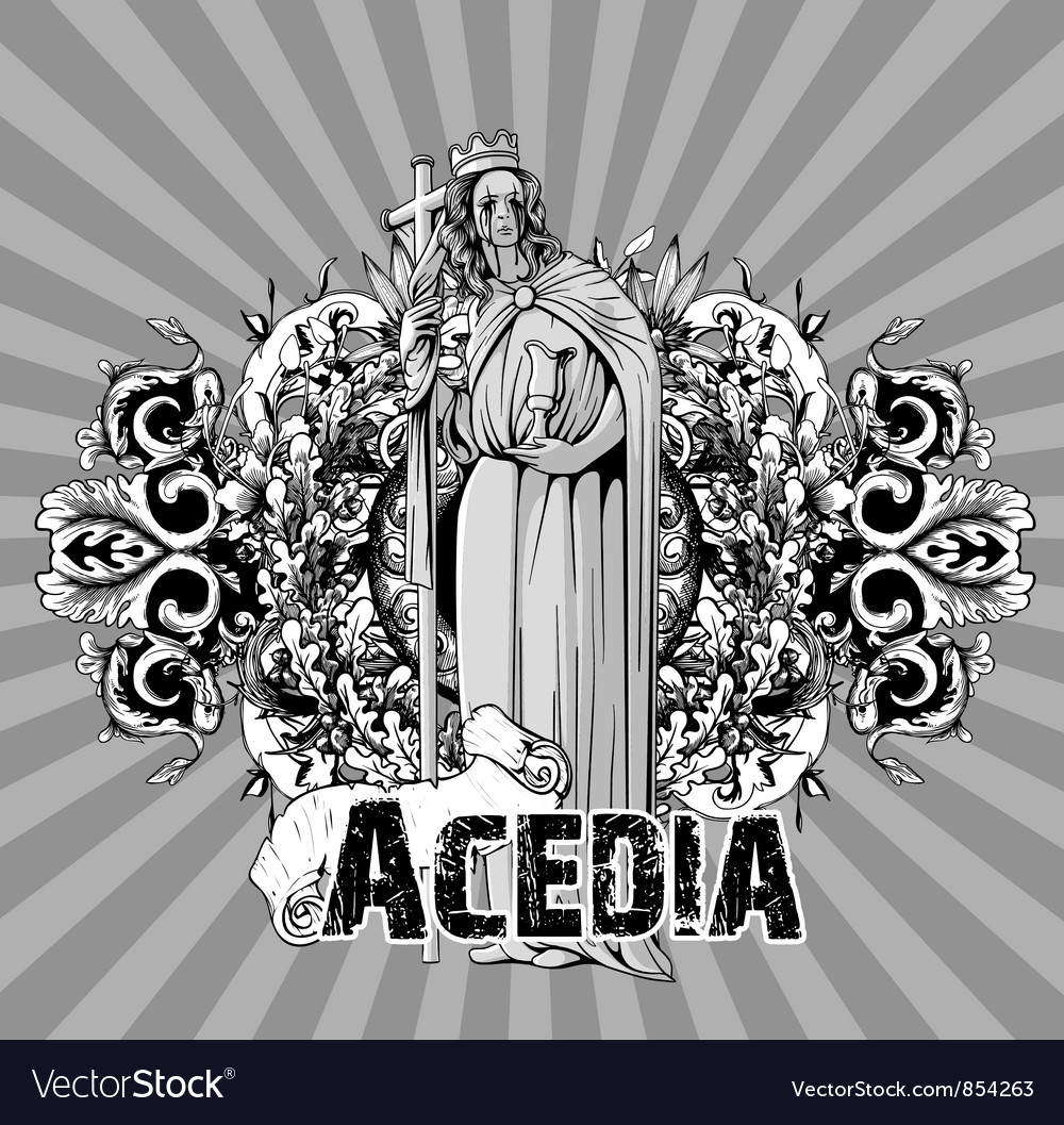 Dark gothic background vector image