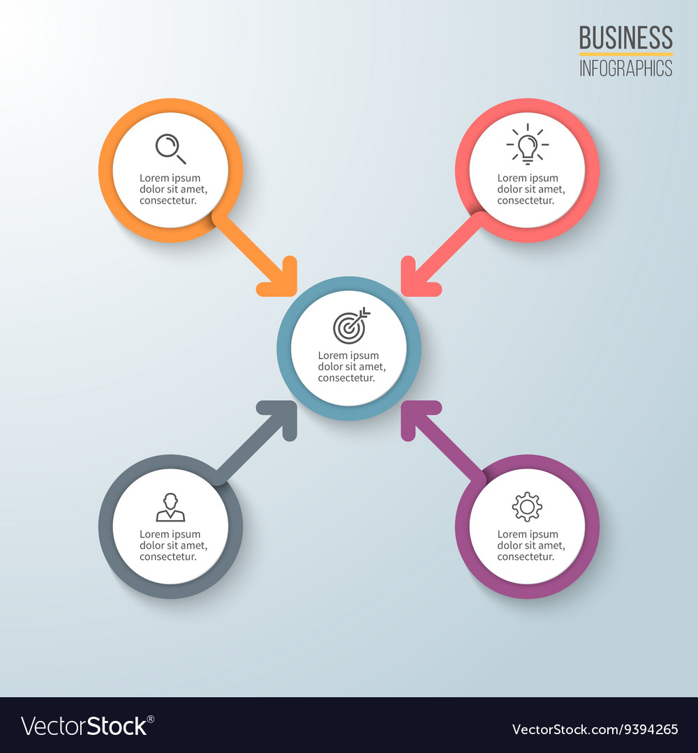 Business infographics Diagram for presentation vector image
