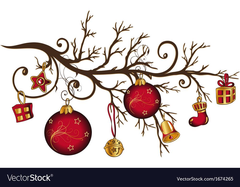 Christmas bough Royalty Free Vector Image - VectorStock