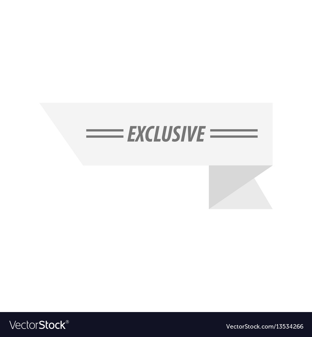 Design ribbon exclusive white color vector image