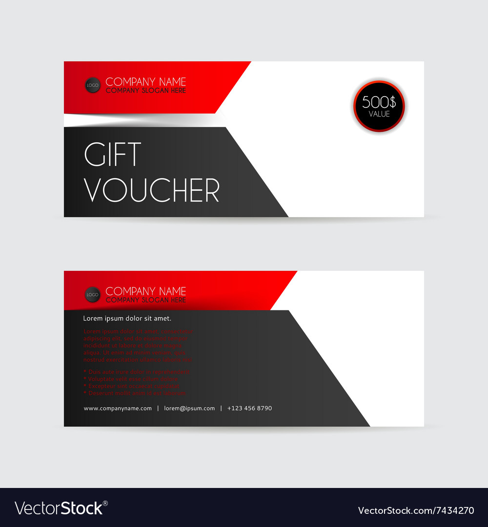 Red and black gift voucher template royalty free vector red and black gift voucher template vector image xflitez Choice Image