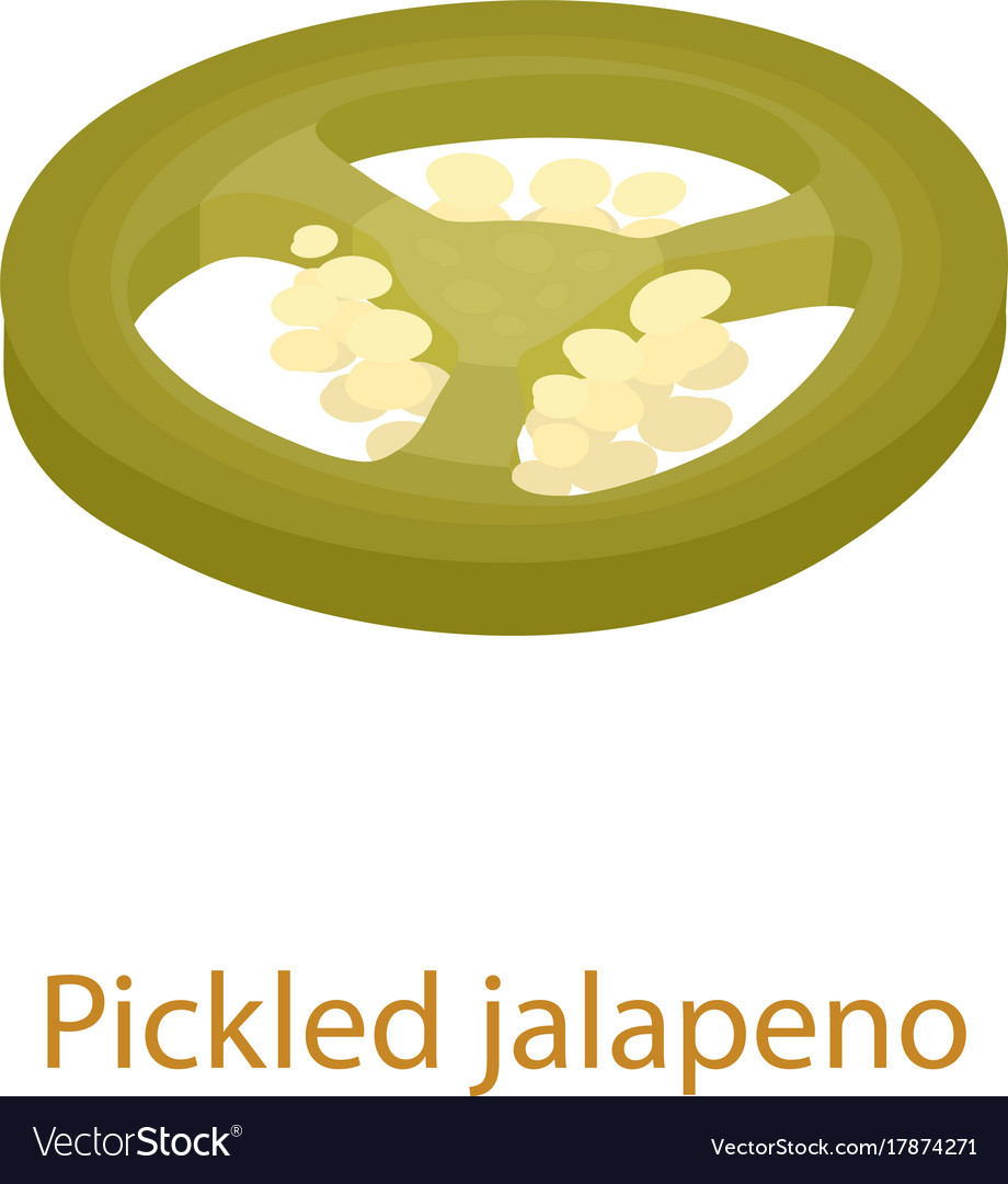Pickled jalapeno icon isometric 3d style vector image