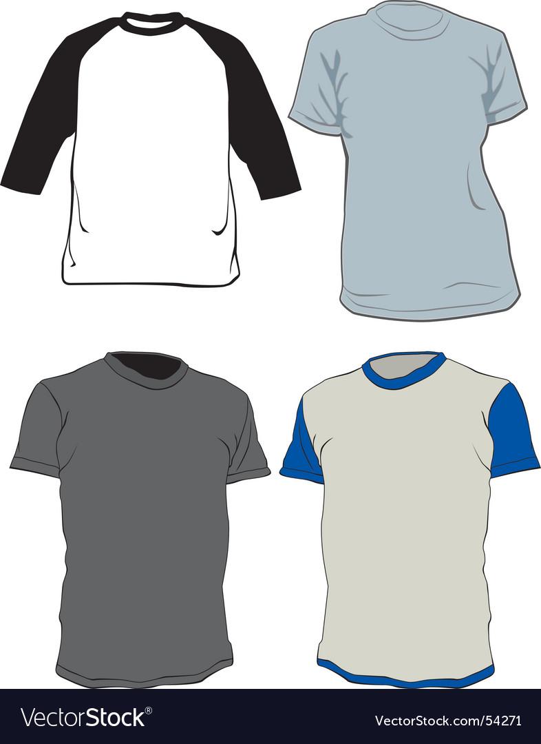Tee shirts vector image