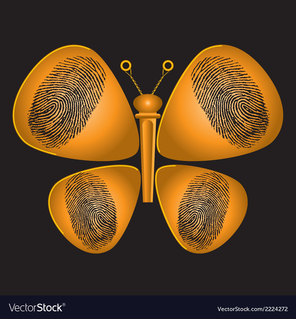 Guitar pick Butterfly Print vector image