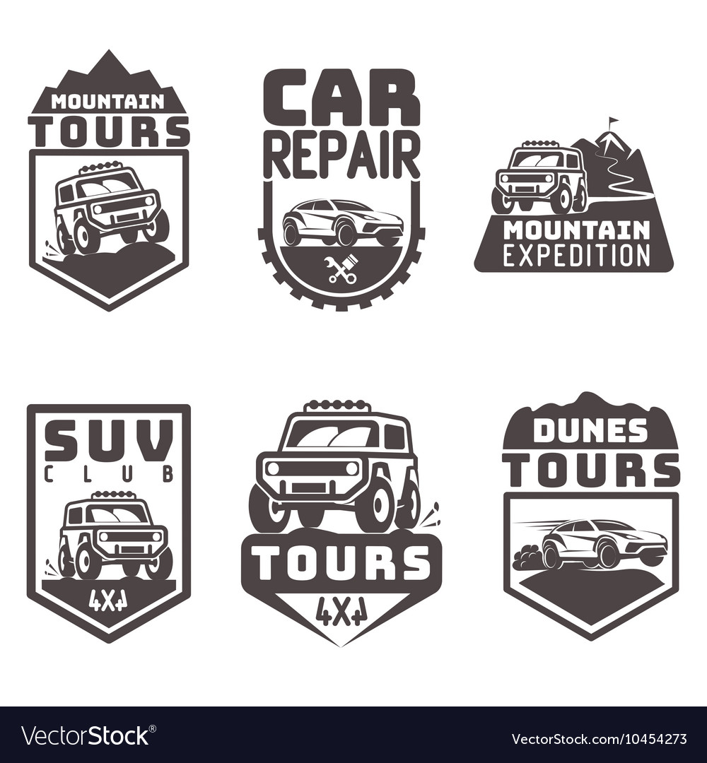 Suv Off Road Travel Tour Club Icon Logo Vector Image