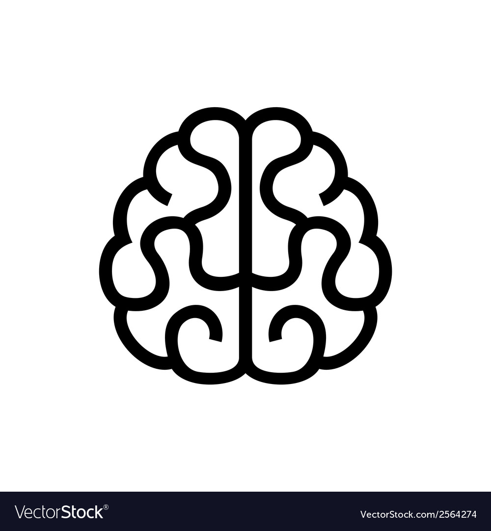 Brain Icon on White Background vector image