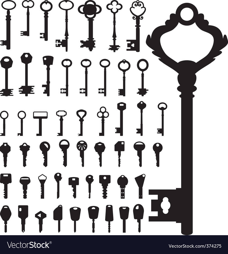 Keys collection Vector Image