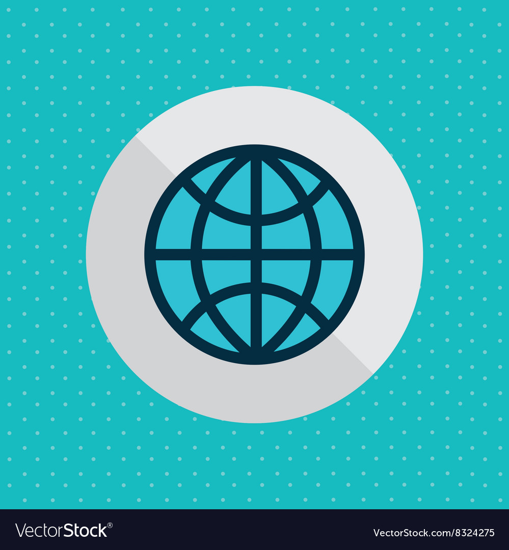 Planet icon design vector image