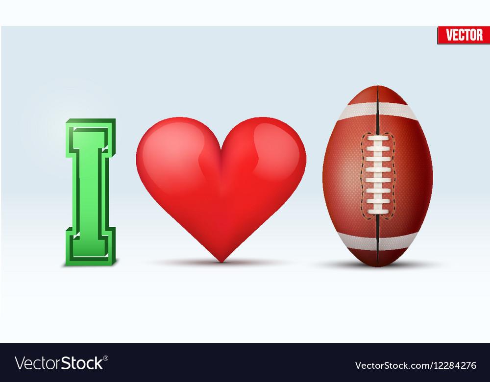 Love football inscription vector image