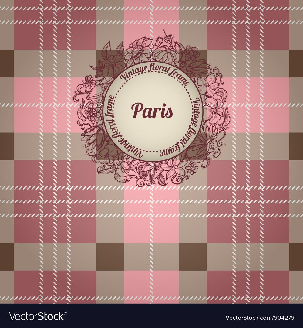 Vintage Paris background vector image