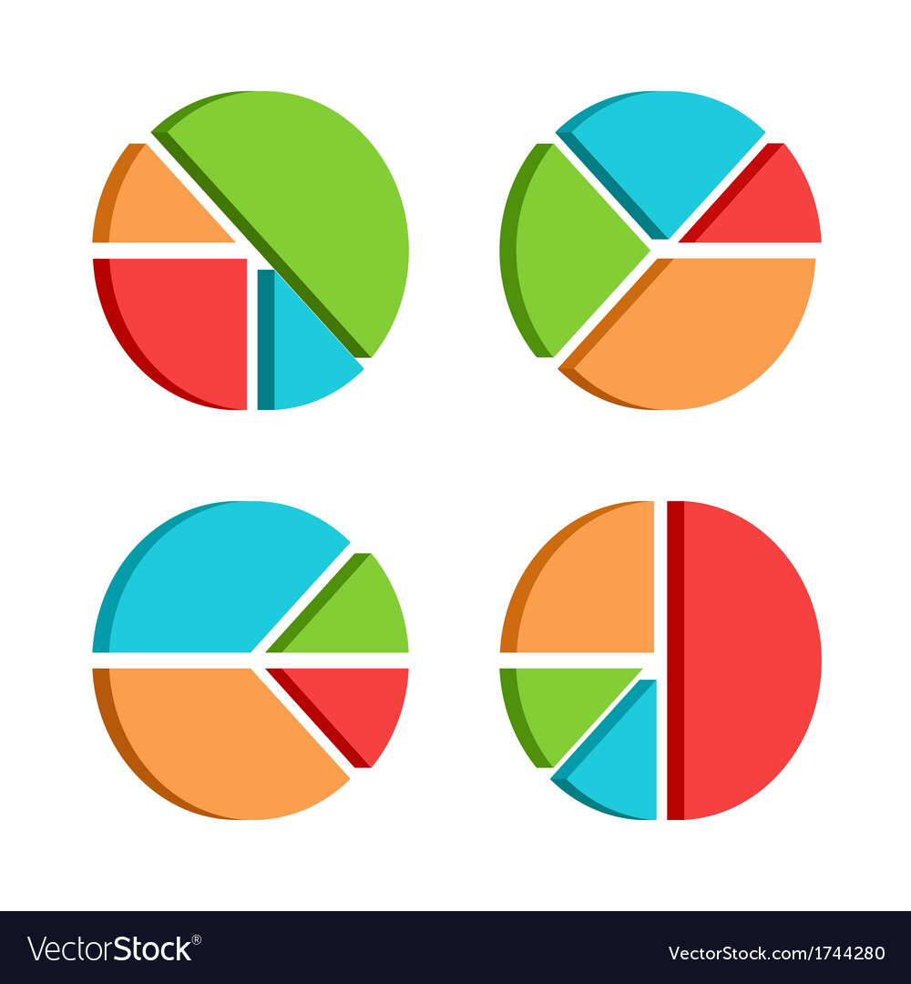 Set of business diagrams template with four segmen vector image