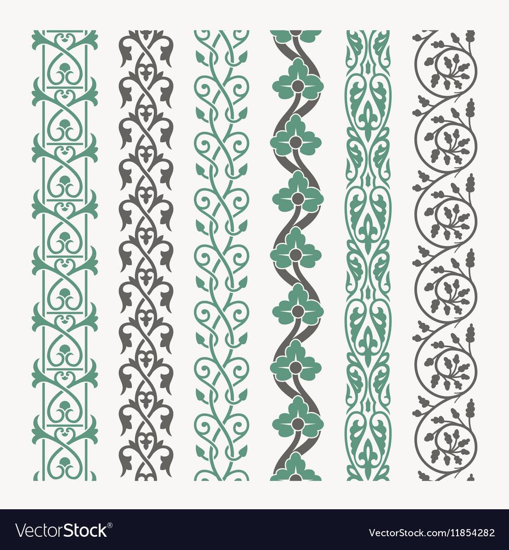 Decorative borders set vector image
