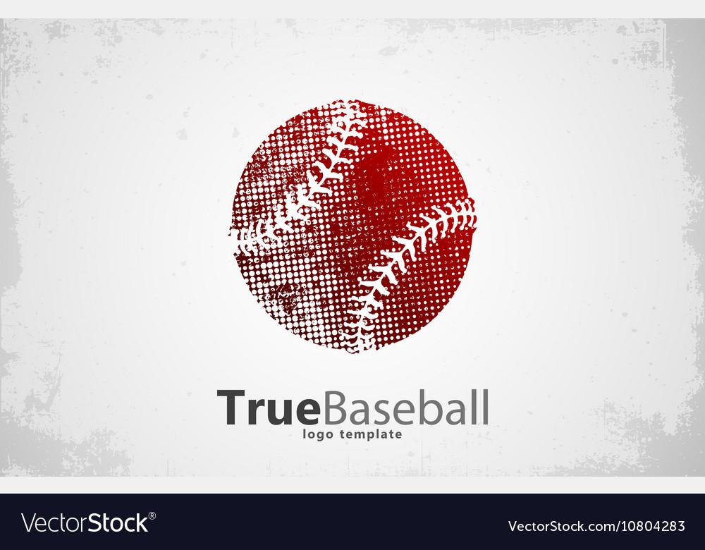 Baseball logo Baseball ball design Grunge logo vector image