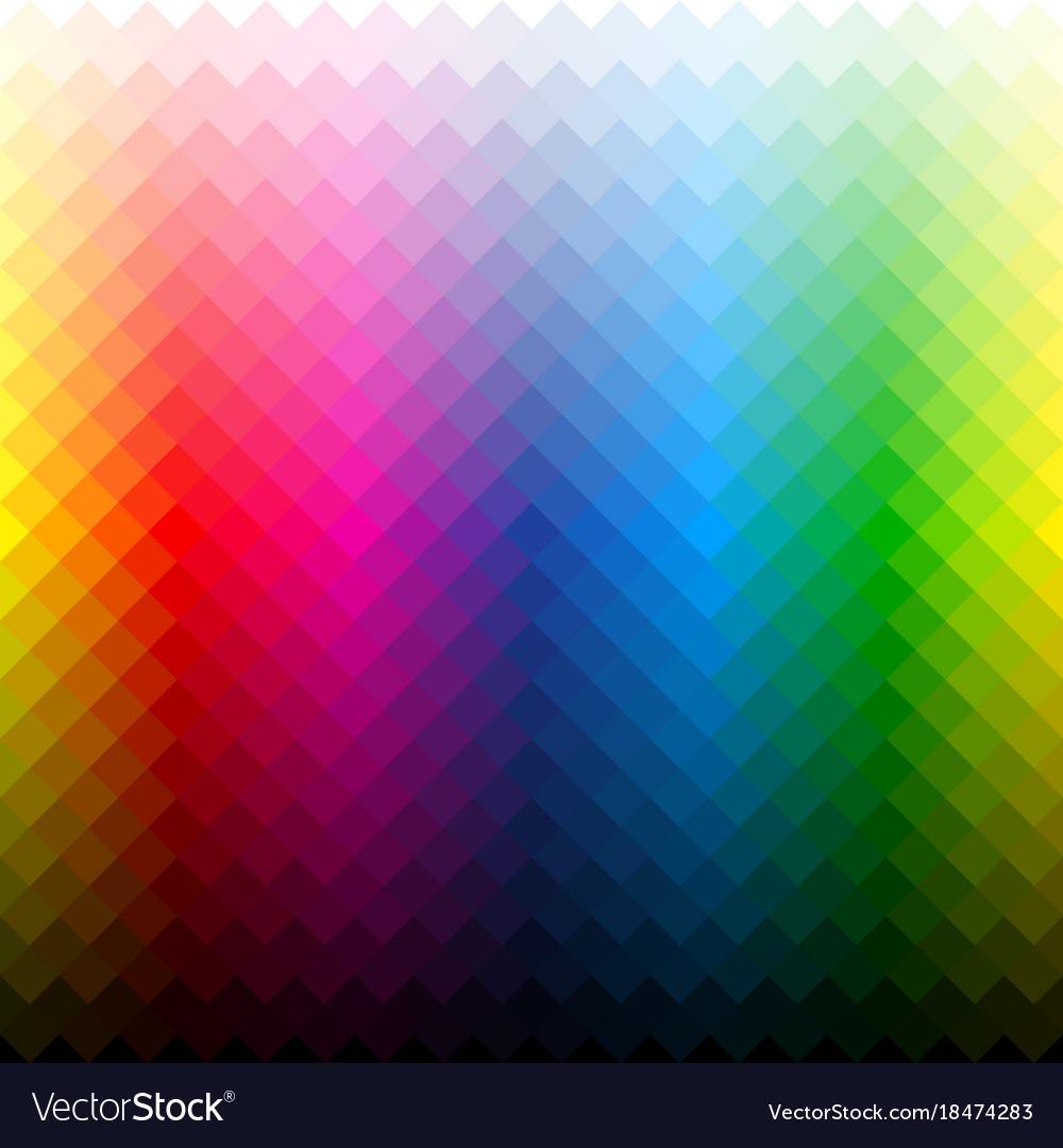 Color palette background vector image