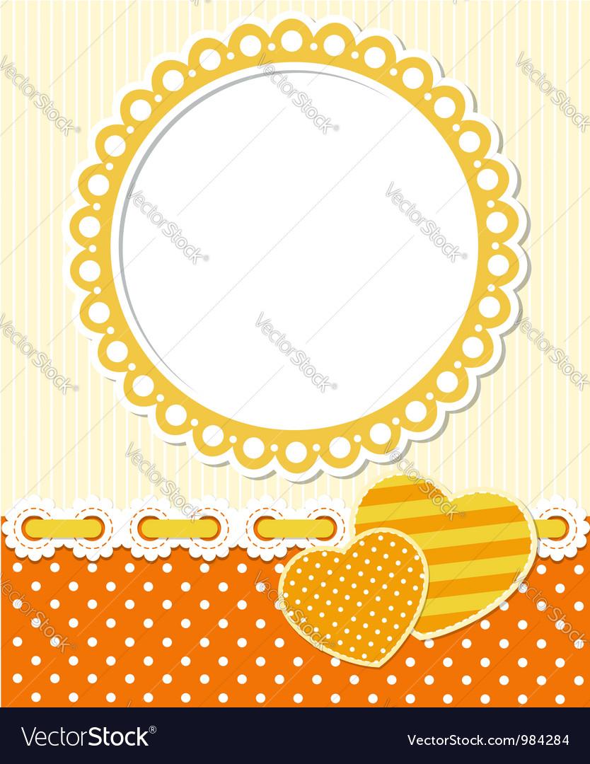 Retro style romantic scrapbook frame vector image