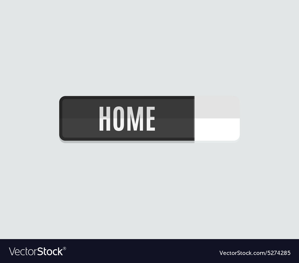 Home web button flat design vector image