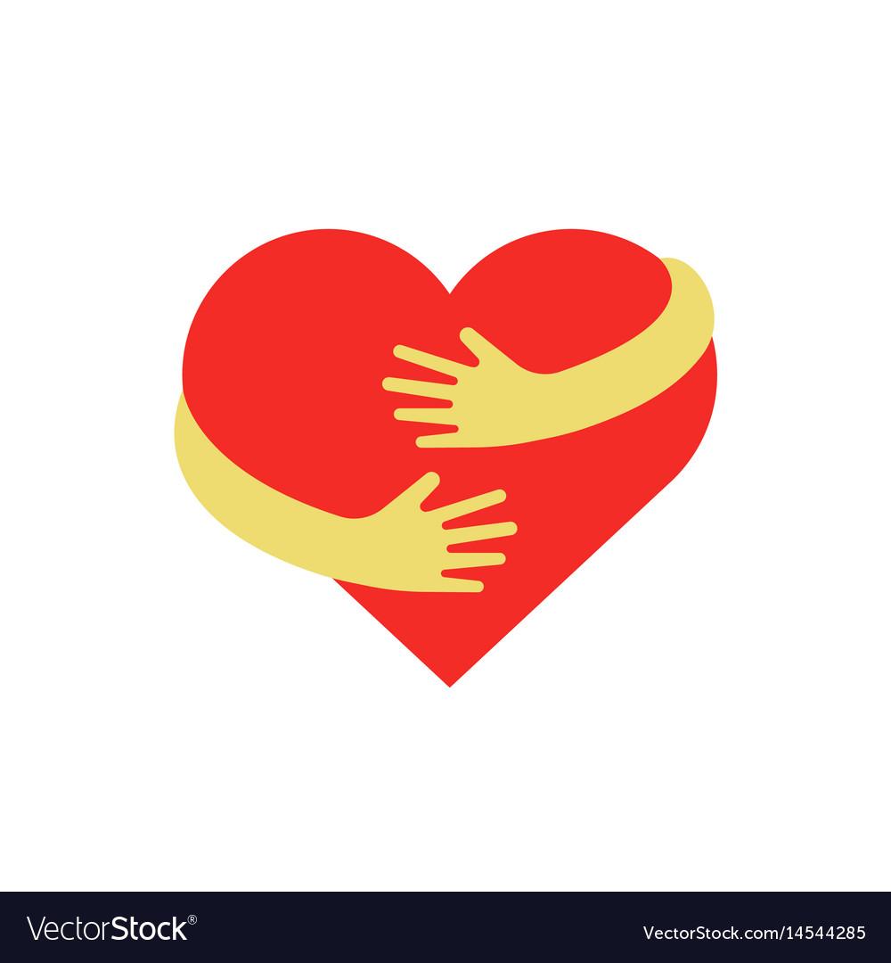 Hugging heart symbol hug yourself logo love vector image hugging heart symbol hug yourself logo love vector image buycottarizona