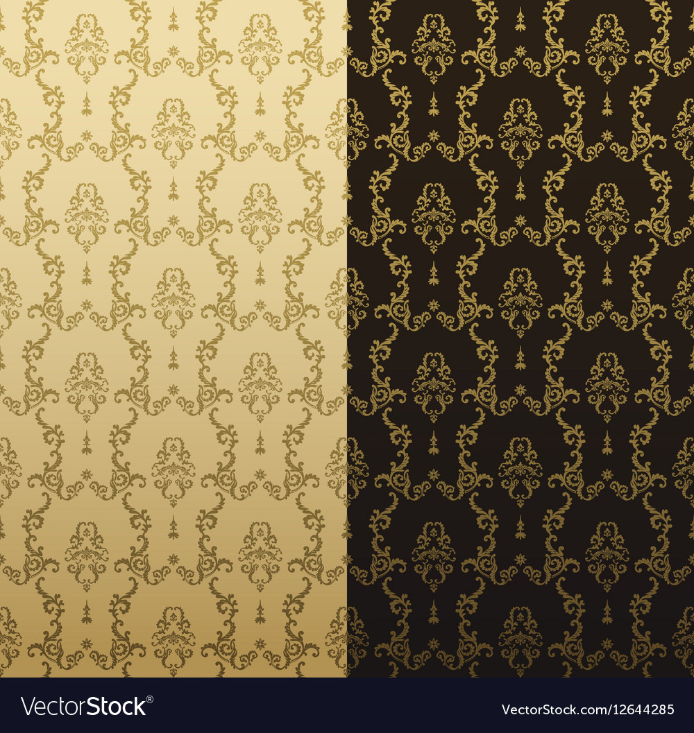 Seamless gold pattern with art ornament vector image