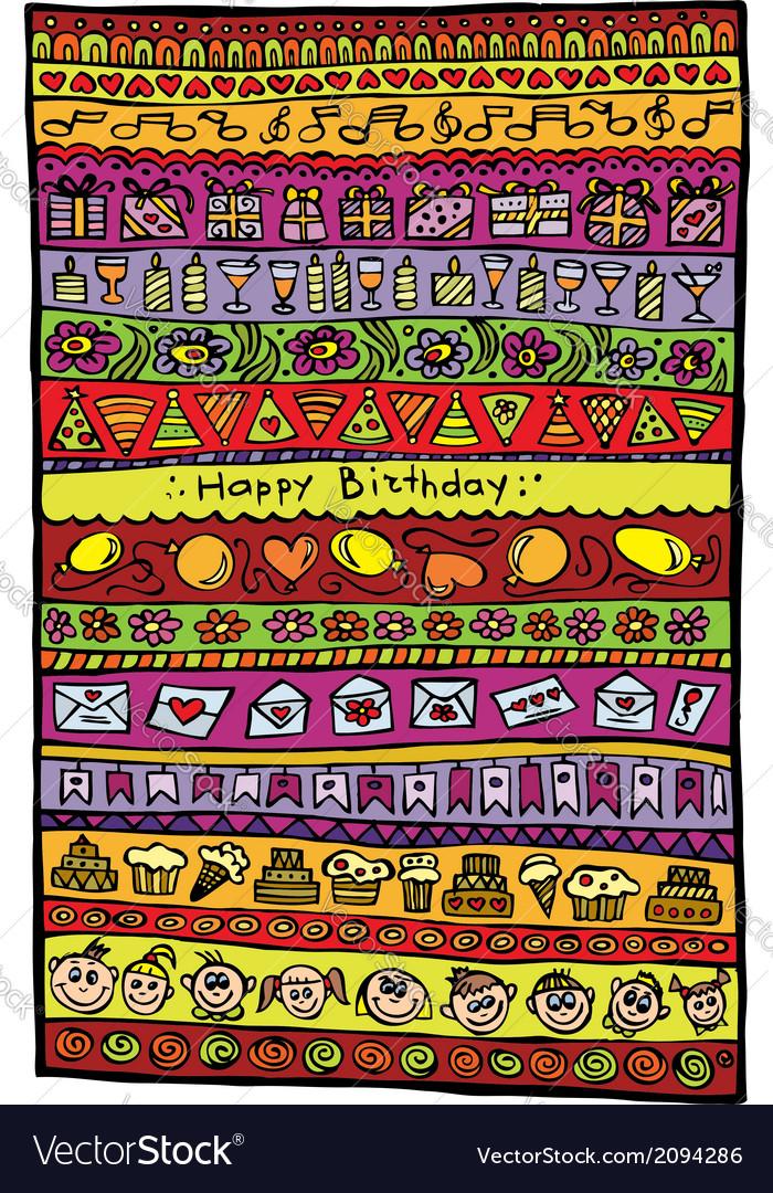 Happy birthday design background vector image