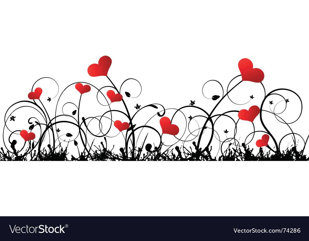 Valentine border vector image