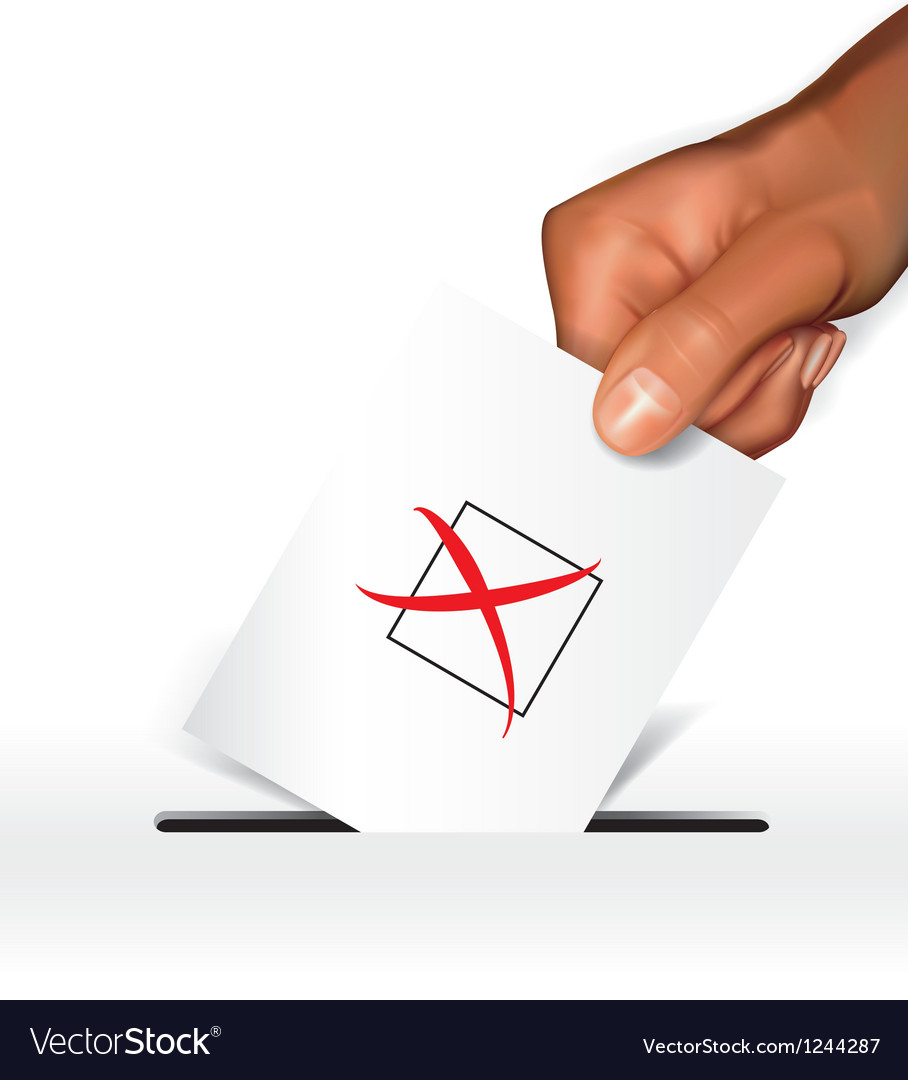 Voting concept-dissagree vector image