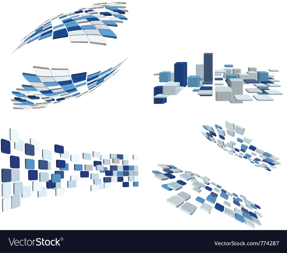 Abstract business elements vector image