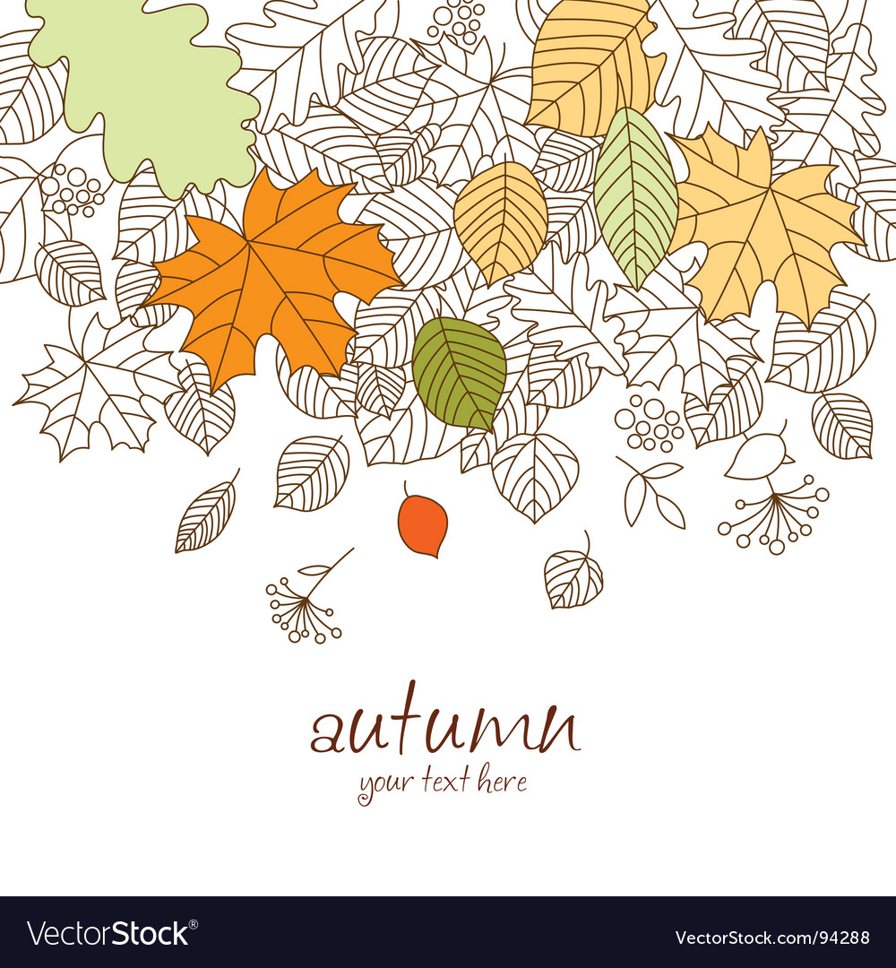 Autumn leaf fall vector image