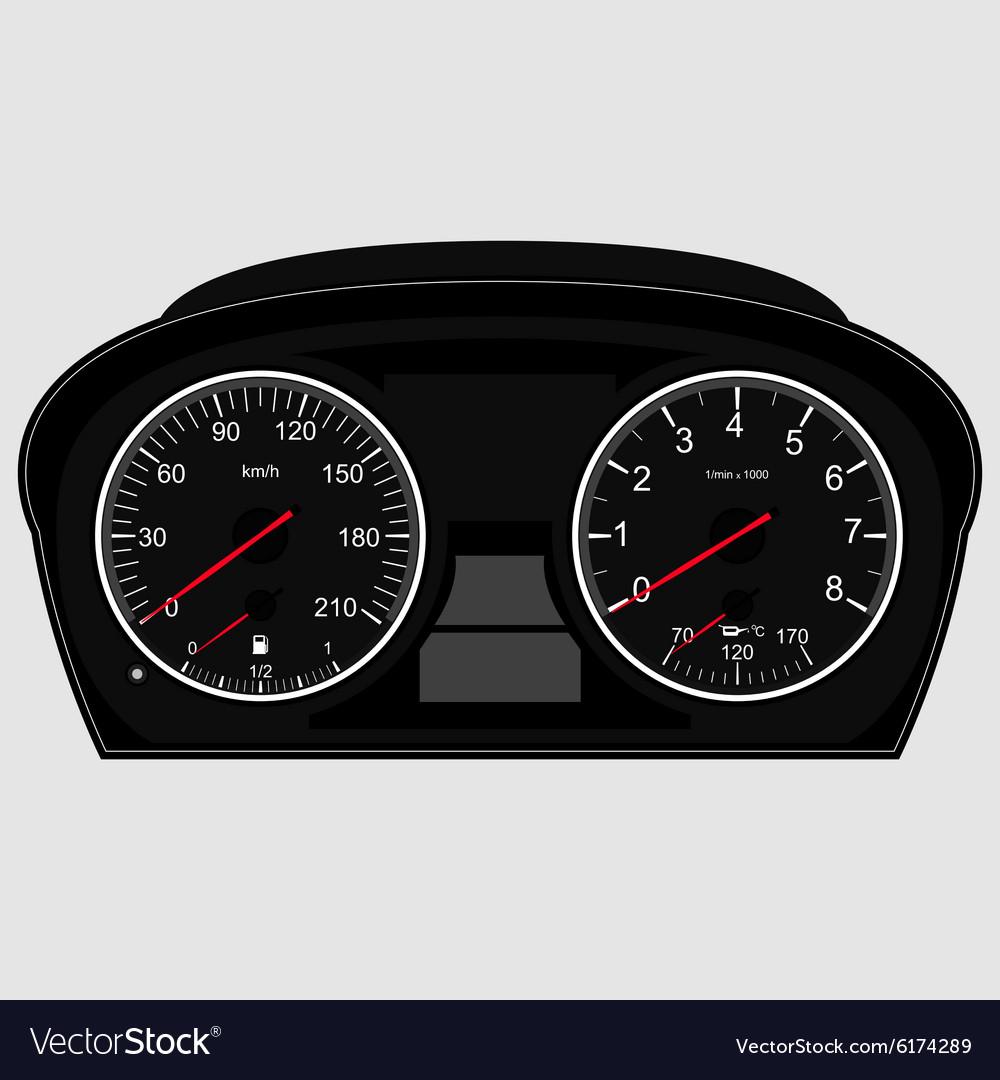 Car instrument panel vector image