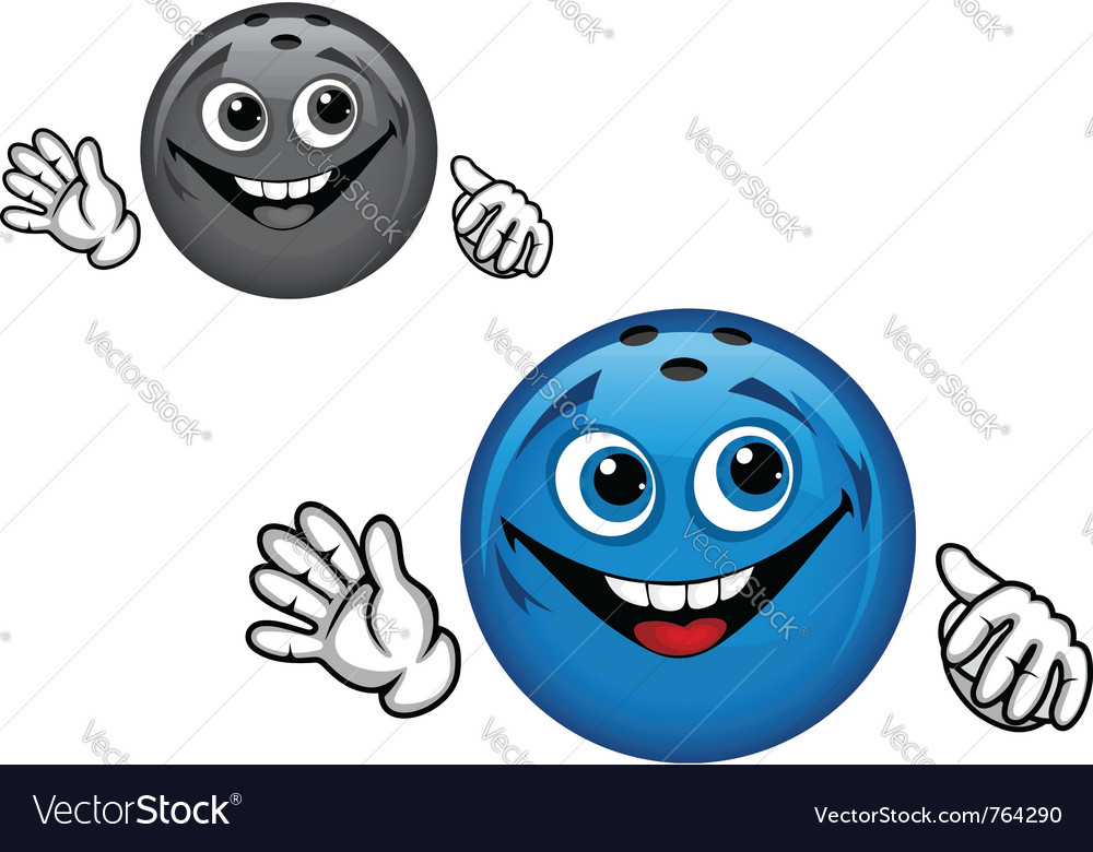 Bowling ball cartoon vector image